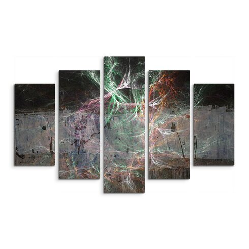 Enigma Abstract 1253 5-Piece Framed Graphic Art Set
