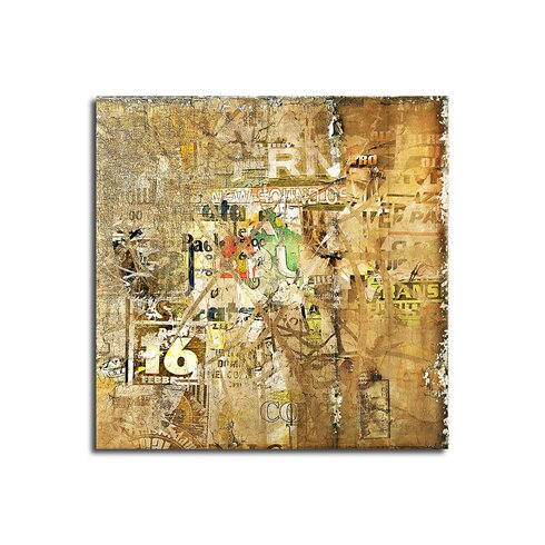 Abstract 436 Enigma Framed Graphic Print on Canvas