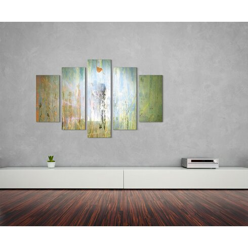 Enigma Skulptur Abstrakt 1187 Painting Print on Canvas Set