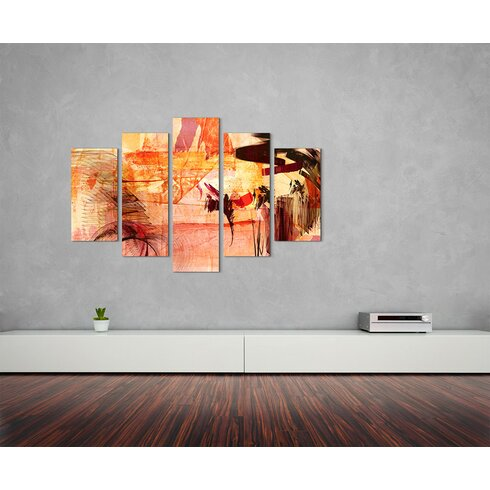 Enigma Abstrakt 766 Painting Print on Canvas Set