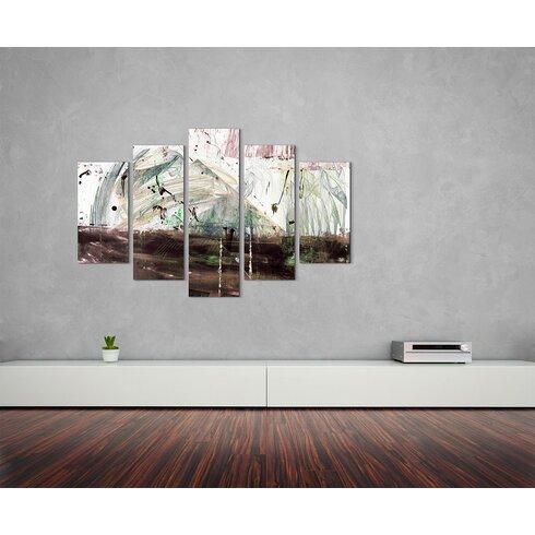 Enigma Skulptur Abstrakt 1394 Painting Print on Canvas Set