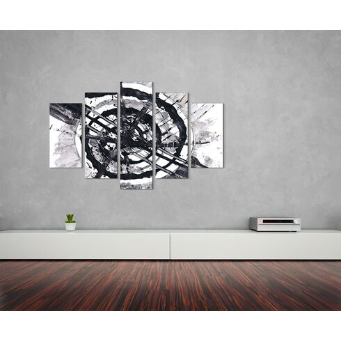 Enigma Abstrakt 727 Painting Print on Canvas Set