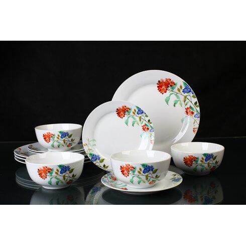 Porcelain 12 Piece Dinnerware Set