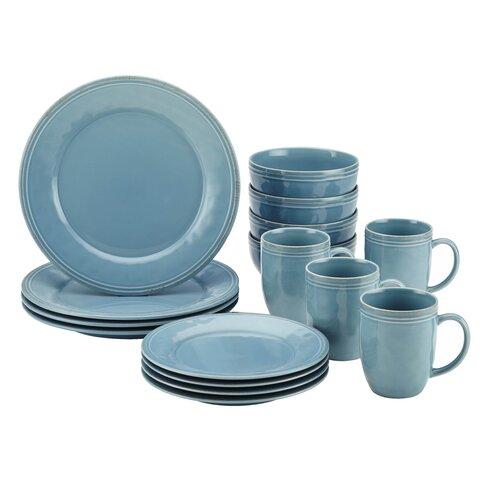 Agave blue stoneware set
