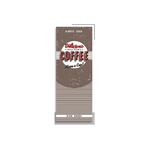 Vintage Coffee 2.5m L x 95cm W Food and Beverage Tile/Panel Wallpaper