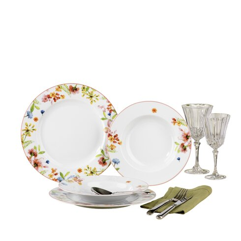 Fiore 12 Piece Dinnerware Set, Service for 6