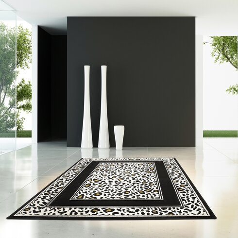 Funky Black and White Area Rug