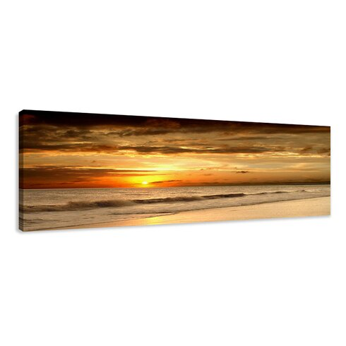 'Beach' Framed Photographic Print on Wrapped Canvas