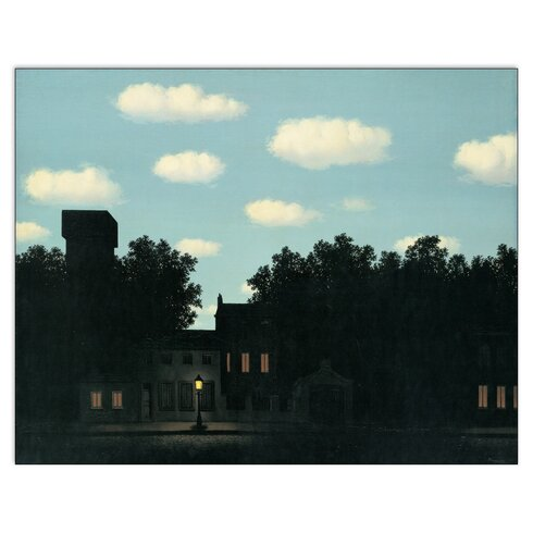 'L Impero Delle Luci' by Magritte Photographic Print Plaque