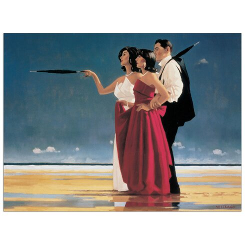 'The Missing Man I' by Vettriano Art Print Plaque
