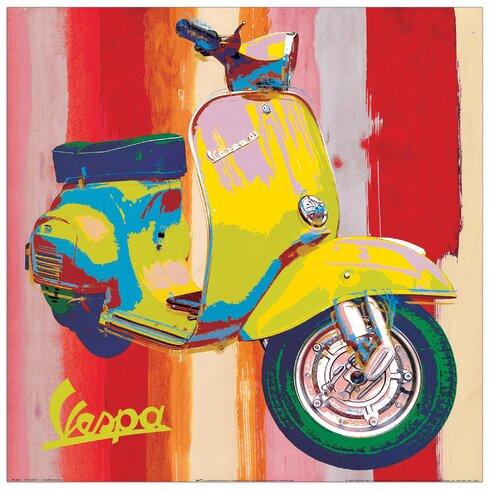 'Pop Vespa' I by Salvini Graphic Art Plaque