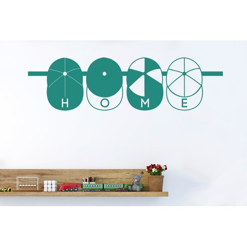 Home Kids Caps Hanging Sign Wall Sticker