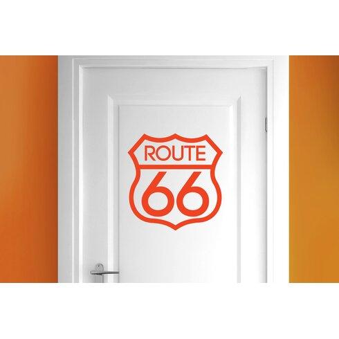 Route 66 Door Room Wall Sticker