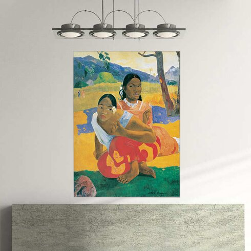 """""""When Will You Marry"""" by Gauguin Art Print Plaque"""