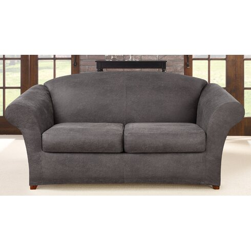 Sure Fit Ultimate Stretch Faux Leather 3 Piece Sofa