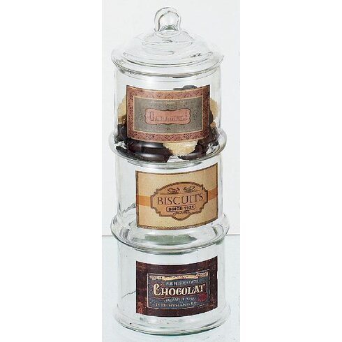 Biscuits 3-Piece Jar Set