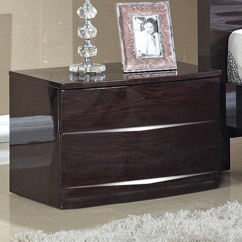 Brooker 2 Drawer Bedside Table