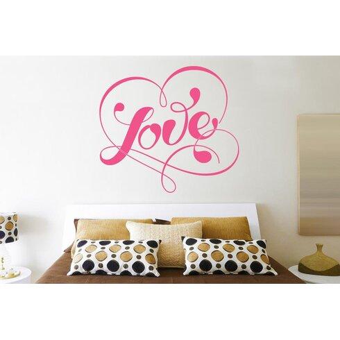 Love Within Fancy Heart Wall Sticker