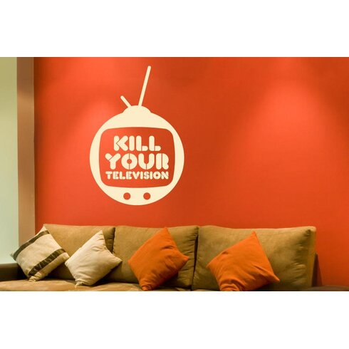Kill Your Television Wall Sticker