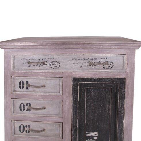 Siena 1 Door 6 Drawer Cabinet