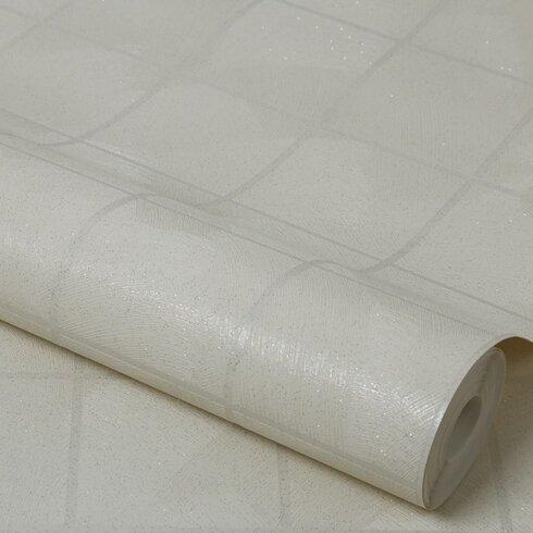 Kitchen & Bathroom 10m L x 10.6cm W Geometric 3D Embossed Roll Wallpaper