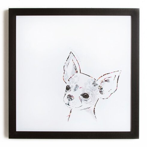 Puppy Love Pickle the Chihuahua Art Print on Canvas