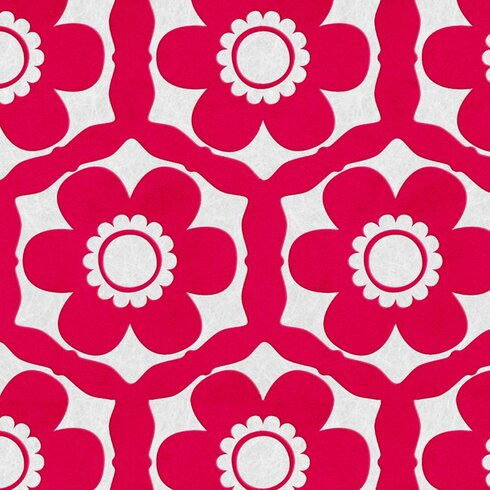 Flock 10m L x 52cm W Floral and Botanical Flocked Roll Wallpaper