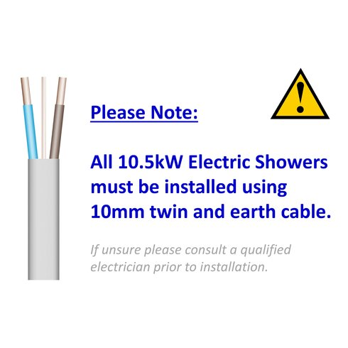 550C 9.5kW Electric Shower