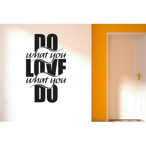 Do What You Love What U Do Intertwined Wall Sticker