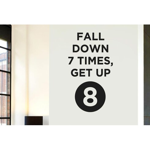 Fall Down 7 Times Get Up 8 Wall Sticker