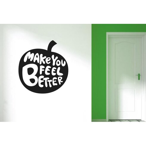 Apples Make You Feel Better Wall Sticker