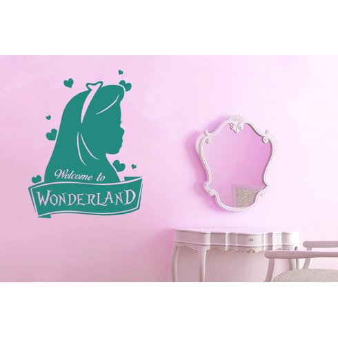 Welcome To Wonderland Wall Sticker
