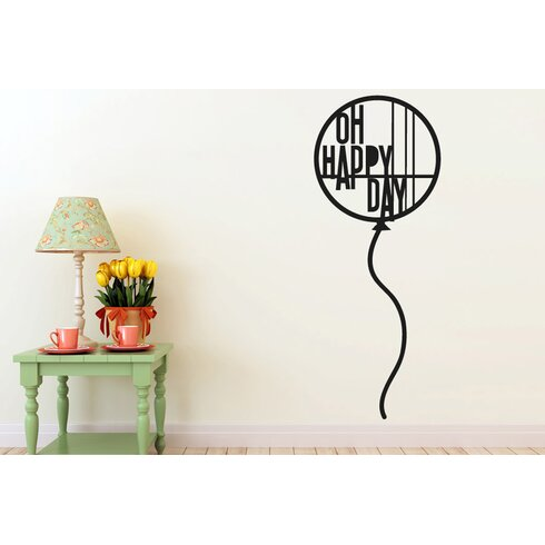Balloon Oh Happy Day Wall Sticker