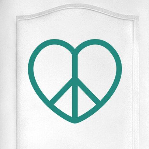 Love Peace Heart Door Room Wall Sticker