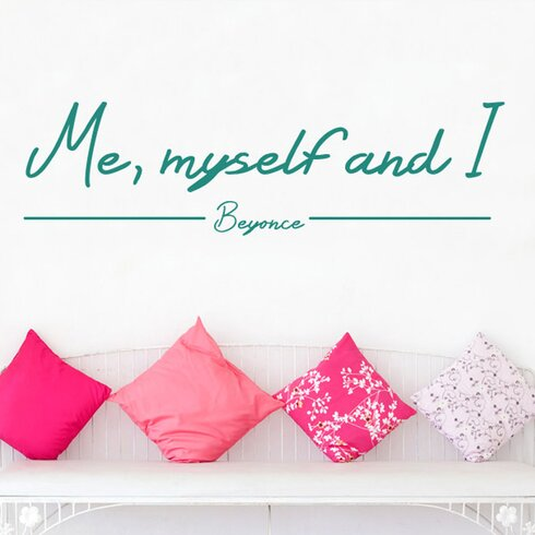 Beyonce Me Myself And I Wall Sticker
