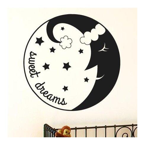 Sweet Dreams Sleeping Moon Wall Sticker