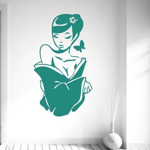 Beautiful Asian Woman Wall Sticker