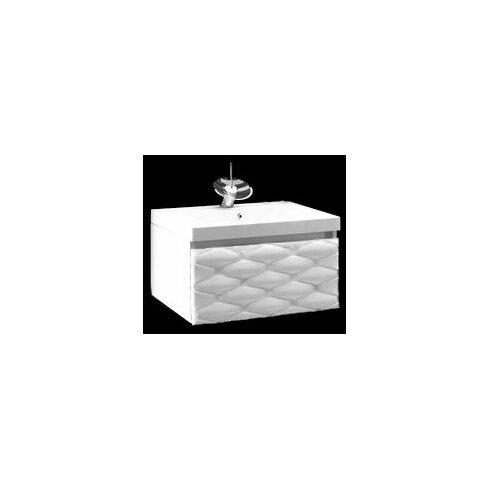 61 cm Wandmontierter Waschtisch mit Armatur