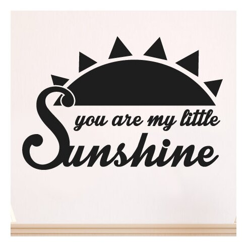 You Are My Little Sunshine Wall Sticker