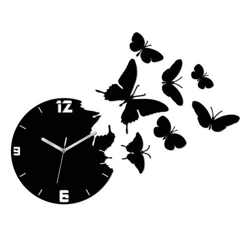 Analoge Wanduhr Butterfly