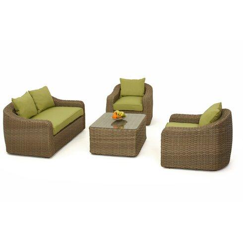 Milan 4 Seater Sofa Set with Cushions
