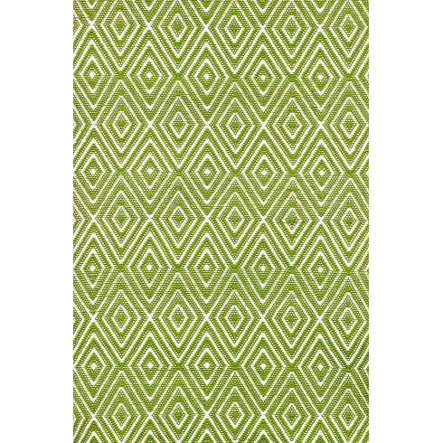 diamond hand woven green area rug