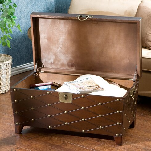 Astoria Grand Cainhoe Nailhead Trunk Coffee TableReviewsWayfair