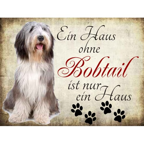 Bobtail Graphic Art Plaque