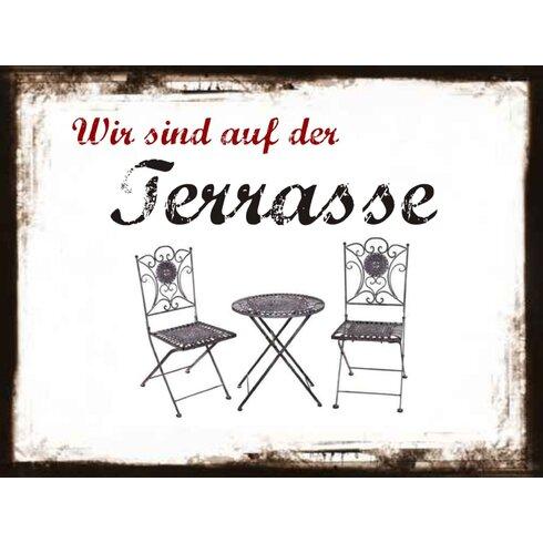 Terrasse Graphic Art Plaque