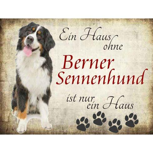 Berner Sennenhund Graphic Art Plaque