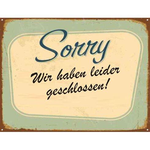 Sorry Typography Plaque