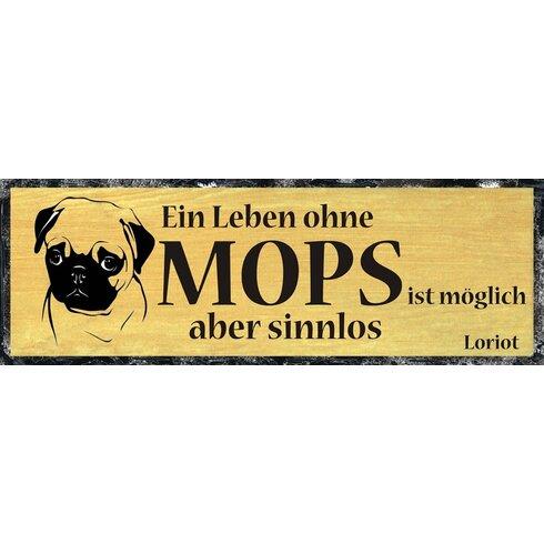 Mops Graphic Art Plaque