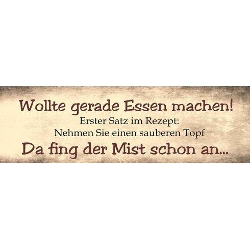 Wollte Gerade Essen Machen Typography Plaque
