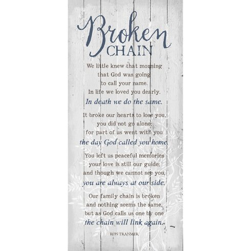 Dexsa Quot Broken Chain Quot Textual Art Plaque Amp Reviews